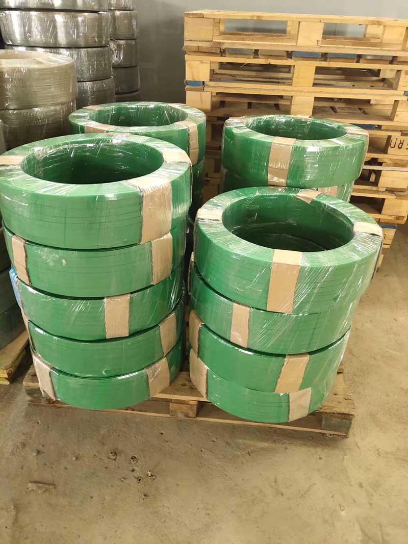 пневматическая упаковочная машина для зеленого пояса PE