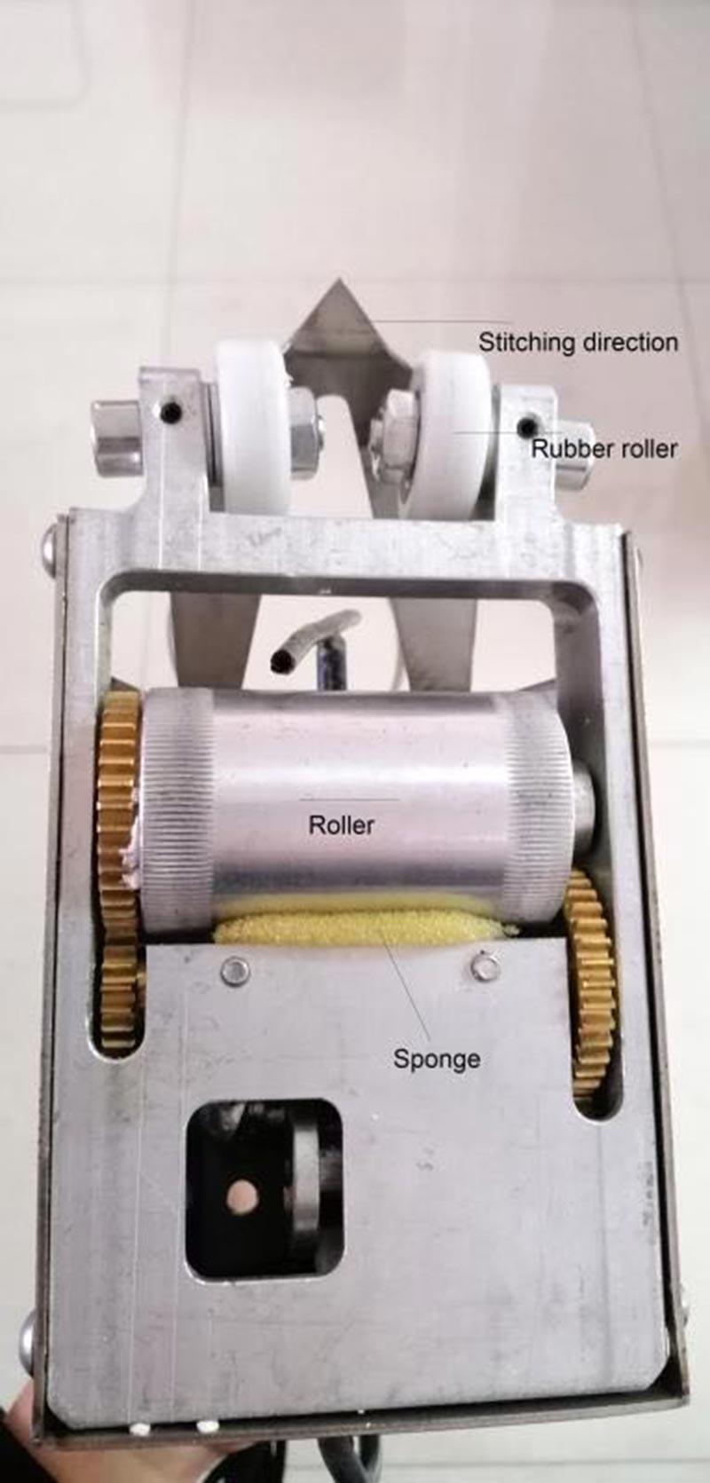 швейная машина для шпона вручную для шитья шпона небольшого размера.